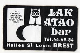 Brest  (29 FInistère) Autocollant  LAKATAO Bar  (PPP32260) - Adesivi