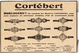 RARE PUB SUR PAPIER - 1907 - MONTRES CORTÉBERT - HORLOGERS - Orologi Antichi