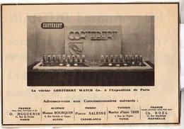 RARE PUB SUR PAPIER - 1907 - MONTRES CORTEBERT - Orologi Antichi