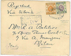 20767 - HONG KONG  - POSTAL HISTORY - COVER To ITALY 1916 - Shangai B.P.O. - Covers & Documents