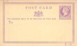 MiNr. P2 Half Penny GS Großbritanien Blanc - Unused Stamps