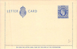 Letter Card 2 1/2 D (Blau) England Blanc - Unused Stamps
