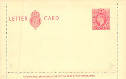 Letter Card 2 1/2 D (Rot) England Blanc - Unused Stamps