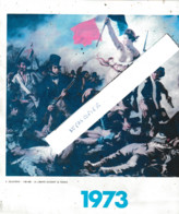 La Liberté Guidant Le Peuple De E. Delacroix ( Représentation Tirée D'un Calendrier , Format 25x20 - Altri
