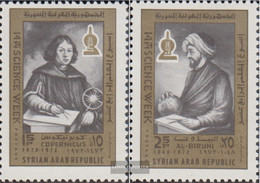 Syria 1258-1259 (complete Issue) Unmounted Mint / Never Hinged 1973 Weeks The Science - Syrien