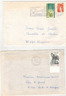 Francia (1980/87) - 2 Buste Per L'interno - Briefe U. Dokumente