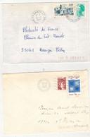 Francia (1981/86) - 2 Buste Per L'interno - Briefe U. Dokumente