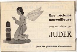 RARE PUB SUR PAPIER - 1930 - UNE RECLAME MERVEILLEUSE VOUS EST OFFERTE PAR JUDEX - MONTRE - Orologi Antichi