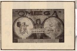 RARE PUB SUR PAPIER - 1930 - UNE SEULE MARQUE DEUX PERFECTIONS - OMEGA - LYON - Orologi Antichi