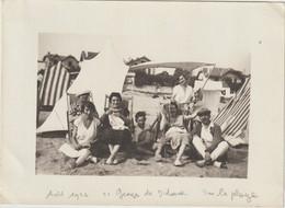 Photo Amateur Beau Format Saint Georges De Didonne (17) Groupe D'estivants Sur La Plage  Aout 1926 - Luoghi