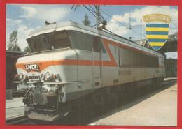 23 - Creuse - Baptéme De La Locomotive Bb 7223 Aux Armes De La Souterraine 06 Octobre 1984 - La Souterraine