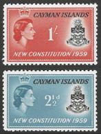 Cayman Islands. 1959 New Constitution. MH Complete Set. SG 163-164 - Iles Caïmans