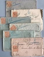Bouches Du Rhône - Istres - LOT 6 LETTRES - Par Agde (Hérault) - Années 1901 / 1902 - 1877-1920: Semi Modern Period
