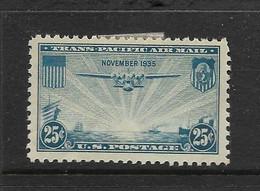 USA 1935 AVION  YVERT N°A21 NEUF MH* - 1a. 1918-1940 Used