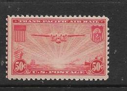 USA 1937 AVION  YVERT N°A23 NEUF MH* - 1a. 1918-1940 Used