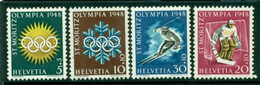 SWITZERLAND 1948 Mi 492-95** Olympic Winter Games, St Moritz [L3614] - Inverno1948: St-Moritz