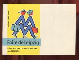 """DDR / 1969 / Karte """"Foire De Leipzig"""" Unbenutzt (4592) - Briefe U. Dokumente"""