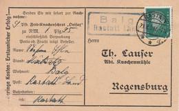 Deutsches Reich Karte Mit Landpoststempel Balg Rastatt Land 1930 Werbung - Briefe U. Dokumente