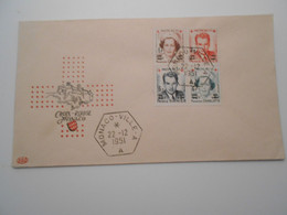 Monaco Fdc , Croix Rouge 1951 ( Dentele ) - FDC