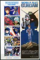 Japon ** N° 3726 à 3735 En Feuille - Cinéma. Films D'animation. Héros Et Héroïnes (I) - Neufs