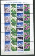 Japon ** N° 3846 à 3849 En Feuille - Fleurs Et Paysages - Neufs