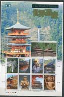 Japon ** N° 3850 à 3859 En Feuille - Patrimoine Mondial - - Neufs