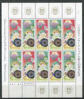 Japon ** N° 3959/3960 En Feuillet De 5 Paires - Arrangements Floraux Stylisés - - Neufs