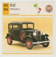 Verzamelkaarten Collectie Atlas: FIAT 508 Balilla - Automobili