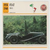 Verzamelkaarten Collectie Atlas: FIAT 508 S - Automobili