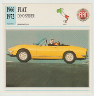 Verzamelkaarten Collectie Atlas: FIAT DINO Spider - Automobili