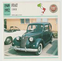Verzamelkaarten Collectie Atlas: FIAT 1100 B - Automobili