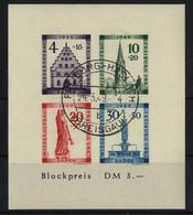 Französische Zone, Baden Block 1 B Gestempelt Haslach - Geprüft Schlegel BPP - Franse Zone