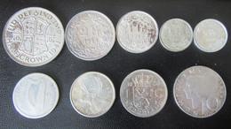 Lot De 9 Monnaies De Divers Pays En Argent - Grande-Bretagne, Suisse, Autriche, Irlande, Canada - 59,2g - Alla Rinfusa - Monete