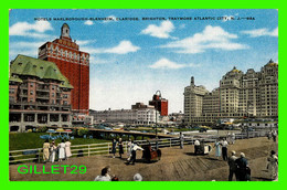 ATLANTIC CITY, NJ - HOTELS MARLBOROUGH-BLENHEIM, CLARIDGE, BRIGHTON - TRAVEL IN 1952 -  E. C. KROPP CO - - Atlantic City