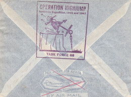 """Cover From The """"USS Mount Olympus"""" To Belgium - """"Operation Highjump / Antarctic Expedition 1946/47"""" - Sin Clasificación"""