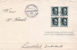 LANDSHUTER HOCHZEIT ANNO 1475, LANDSHUT BAY. DEUTSCHES REICH, UMSCHLAG MIT BLOCK, JAHR 1937.- LILHU - Briefe U. Dokumente