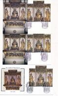 ED-159: FRANCE: Lot Avec 2 Carte + 1 Enveloppe Retable D'Issenheim - Cartas