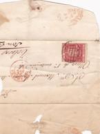 ESPAÑA. PEQUEÑA CARTA CIRCULADA EN AÑO 1854, DE ZARAGOZA A SAN SEBASTIAN. PETITE ENVELOPPE.- LILHU - Covers & Documents