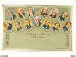 THE AMERICANS CHOICE 1789 1850 CPA BON ETAT - Presidents