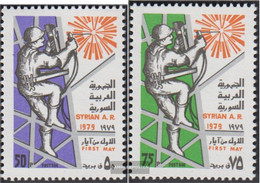 Syria 1435-1436 (complete Issue) Unmounted Mint / Never Hinged 1979 Day The Work - Syrien