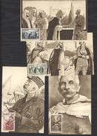 0le  0142  -  Maroc  :  Yv  335-38  (o)  Sur 4 Cartes Maximum Premier Jour Maréchal Lyautey - Cartas