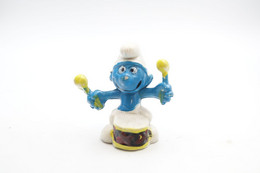 Smurfs ADVERTISING Nr X - Laitiers Union Figurine Publicitaire Drum Player - Stroumph - Smurf - Schleich - Peyo - I Puffi