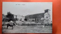 CPA.(85)  Doix. L'église. Cheval Et Vache.  (AB.1431) - Other Municipalities