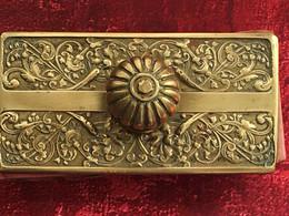 Tampon Porte Buvard à Bascule En Laiton Ciselé--Toggle Blotter Holder Brass--Antique Rocking Ink Blotter - Altri