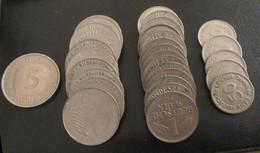 Allemagne / Deutschland - Vrac De Monnaies Modernes - 29 Pièces, 39,5 Deutsche Mark - Alla Rinfusa - Monete
