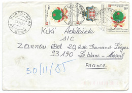 SP BENIN ENVELOPPE COVER / 1985 / PORTO NOVO / ORDRE SOUVERAIN MILITAIRE DE MALTE - Benin – Dahomey (1960-...)