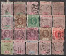 Leeward Islands Old Stamps Small Accumulation (please Read Description) B211001 - Leeward  Islands