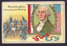 Washington - Patriotic Embossed OLD POSTCARD 1910 (see Sales Conditions) - Presidents