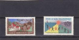 Marruecos Nº 474 Y 475 Con Oxido - Morocco (1956-...)