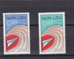 Marruecos Nº 526 Y 527 Con Oxido - Morocco (1956-...)